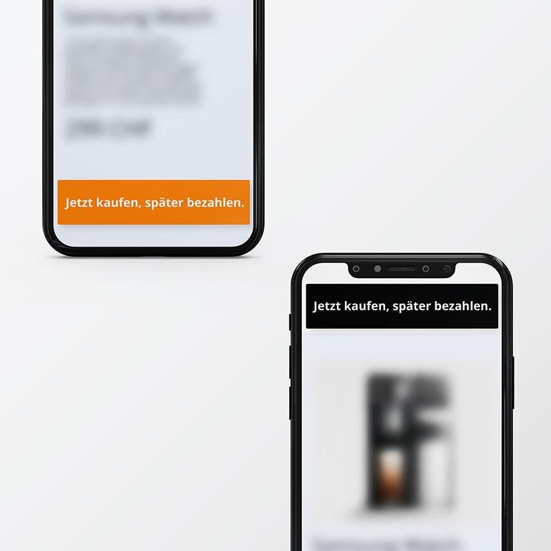 Telefon Banner Jetzt kaufen, später bezahlen